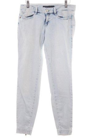 Miss Sixty Skinny Jeans himmelblau-weiß Casual-Look