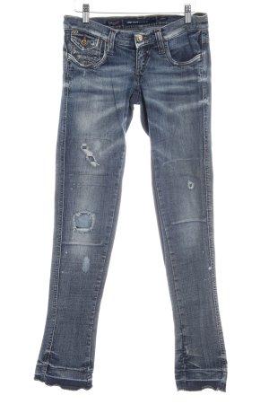Miss Sixty Skinny Jeans stahlblau-himmelblau Jeans-Optik