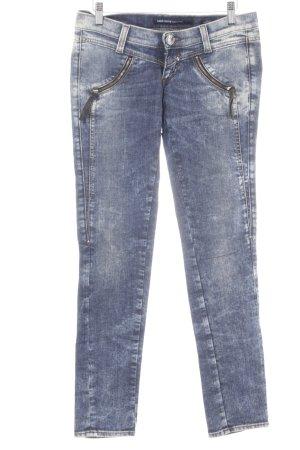Miss Sixty Slim Jeans hellbeige-blau Logo-Applikation aus Metall