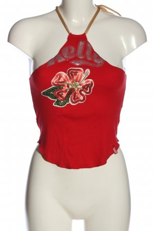 Miss Sixty Spaghettiträger Top rot Casual-Look