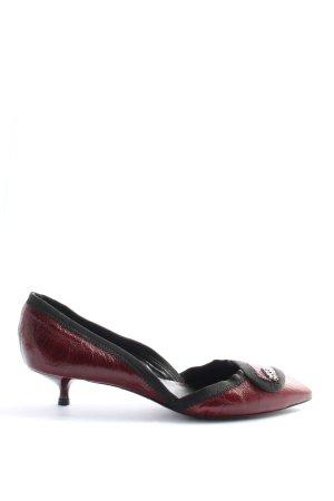 Miss Sixty Spitz-Pumps rot-schwarz Elegant
