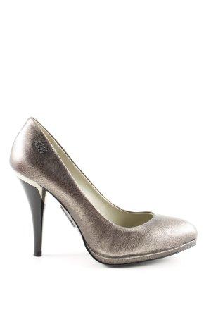 Miss Sixty Spitz-Pumps bronzefarben Glanz-Optik