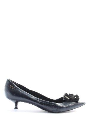Miss Sixty Spitz-Pumps schwarz Vintage-Look