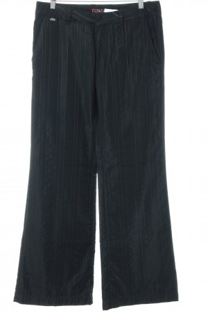 Miss Sixty Pantalon en jersey noir motif rayé style d'affaires