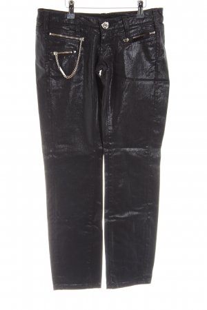 Miss Sixty Straight-Leg Jeans schwarz Glanz-Optik