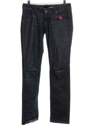 Miss Sixty Straight-Leg Jeans blau Washed-Optik