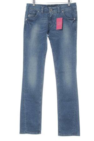Miss Sixty Jeans coupe-droite bleu foncé-bleu pâle Aspect de jeans