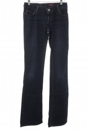 Miss Sixty Straight-Leg Jeans dunkelblau Street-Fashion-Look