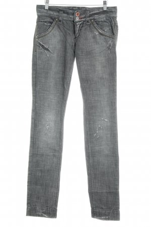 Miss Sixty Straight-Leg Jeans dunkelgrau Casual-Look