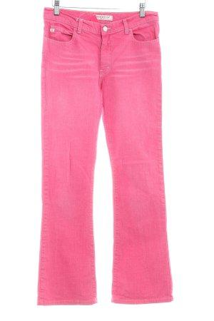 Miss Sixty Straight-Leg Jeans magenta Logo-Applikation