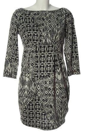Miss Sixty Robe en maille tricotées gris clair-noir imprimé allover