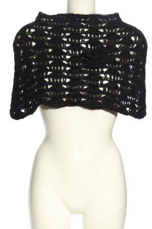 Miss Sixty Poncho en tricot noir élégant