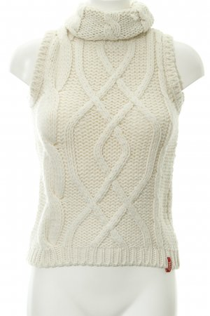 Miss Sixty Strickpullover wollweiß Zopfmuster Casual-Look