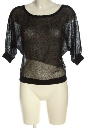 Miss Sixty Camisa tejida negro moteado look casual