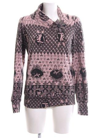 Miss Sixty Sweatshirt pink-schwarz Mustermix Casual-Look