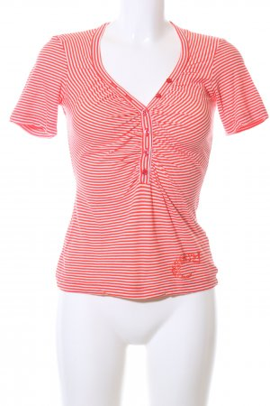 Miss Sixty T-Shirt rot-wollweiß Streifenmuster Casual-Look