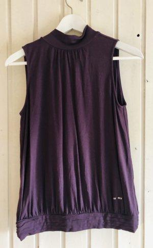 Miss Sixty Top de cuello de cisne violeta amarronado-lila