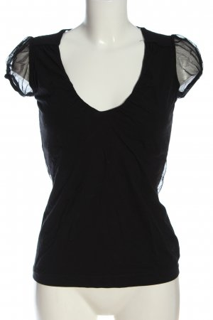 Miss Sixty Blusa trasparente nero elegante