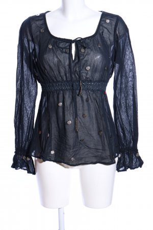 Miss Sixty Transparenz-Bluse schwarz Casual-Look