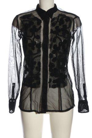 Miss Sixty Transparenz-Bluse schwarz Elegant