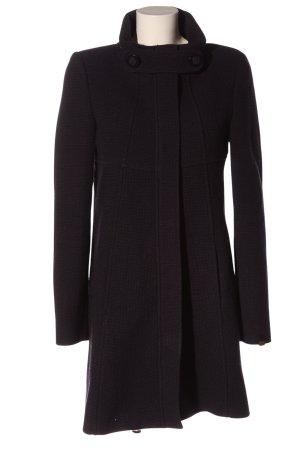 Miss Sixty Manteau mi-saison violet-noir Motif de tissage style décontracté