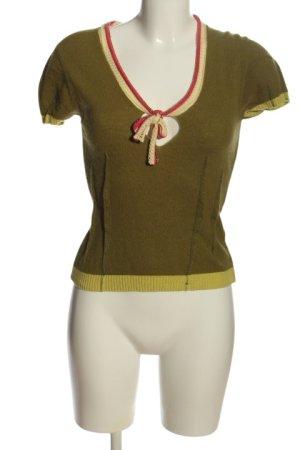 Miss Sixty V-Ausschnitt-Shirt khaki Casual-Look