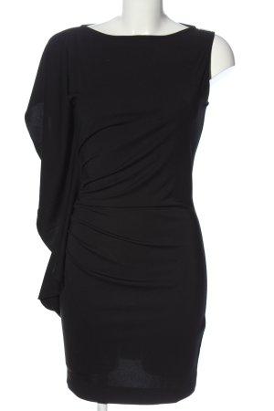 Miss Sixty Jurk met langere achterkant zwart extravagante stijl