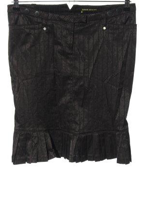 Miss Sixty Spódnica z falbanami czarny Wzór w paski W stylu casual