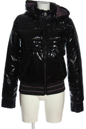 Miss Sixty Chaqueta de invierno negro estampado acolchado look casual