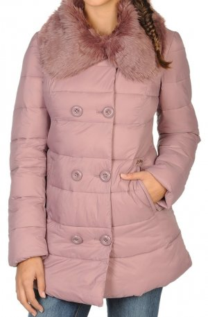 Miss Sixty Quilted Coat dusky pink