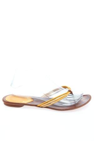 Miss Sixty Zehentrenner-Sandalen blassgelb-braun Casual-Look