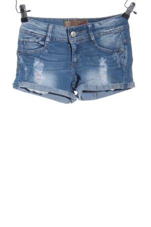 miss two jeans Pantaloncino di jeans blu stile casual
