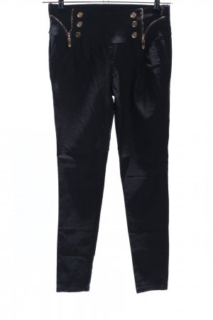 Stretch Trousers black wet-look