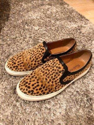 MissBehave Sneakers Leo-Print, braun & schwarz, Fake-Fur, Gr. 37