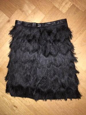 Falda con flecos negro