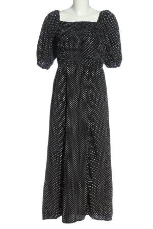 Missguided Robe ballon noir imprimé allover style décontracté