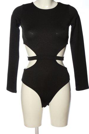 Missguided Body koszulowe czarny W stylu casual