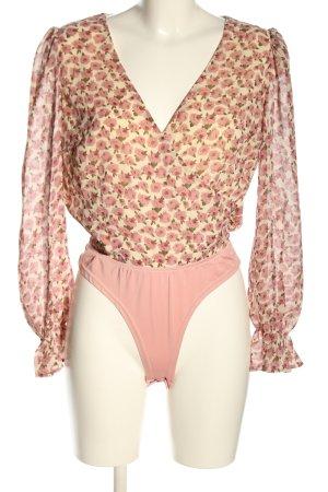 Missguided Blusa tipo body estampado floral look casual