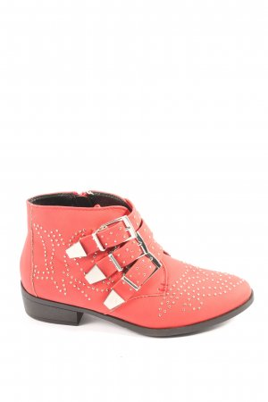 Missguided Booties rot Casual-Look