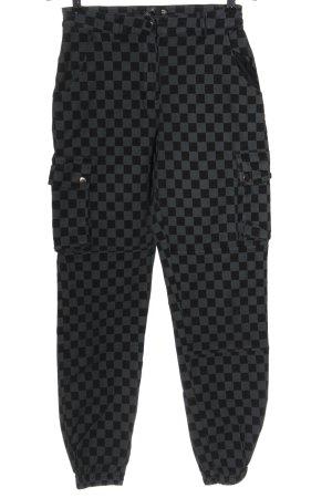 Missguided Pantalon cargo gris clair-noir imprimé allover style décontracté