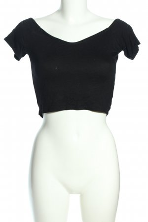 Missguided Cropped Shirt schwarz Casual-Look