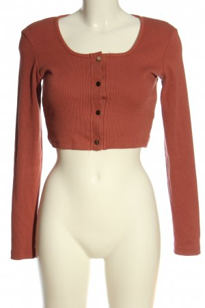 Missguided Cropped Shirt braun Casual-Look