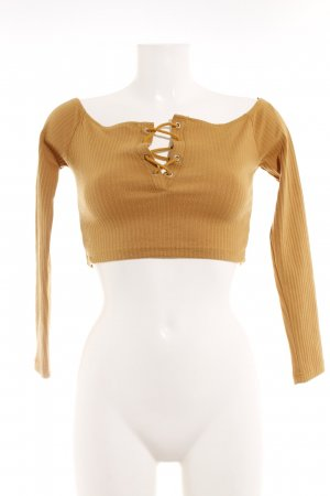 Missguided Cropped Shirt ocker Casual-Look