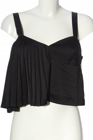 Missguided Cropped Top schwarz Casual-Look