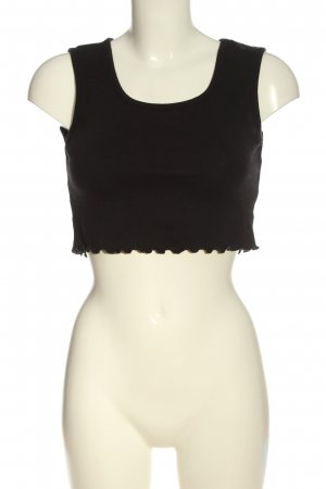 Missguided Cropped top zwart casual uitstraling