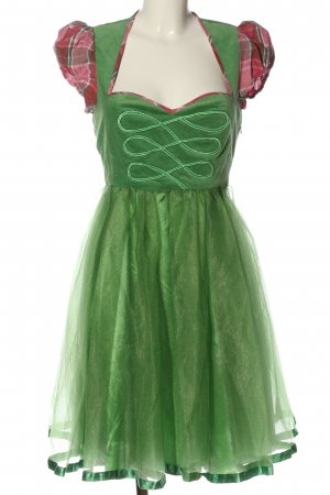 Missguided Dirndl verde-rosa motivo a quadri stile classico