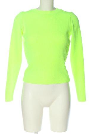 Missguided Feinstrickpullover grün Zopfmuster Casual-Look