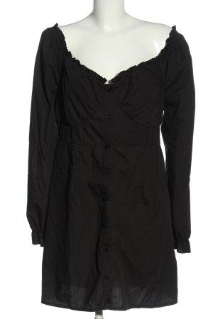 Missguided Shirtwaist dress black casual look