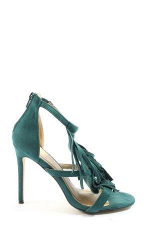 Missguided Sandały na obcasie niebieski Elegancki