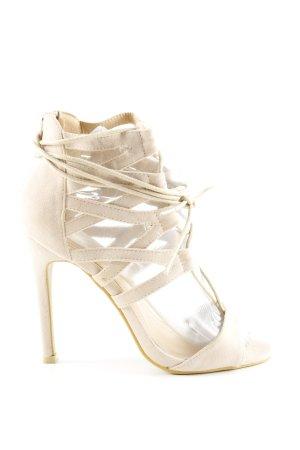 Missguided High Heel Sandaletten wollweiß Elegant
